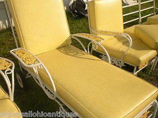 Antique Wrought Iron Garden Furniture Sun Room Patio Set Chaise Lounge