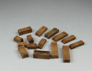 Resin kit 1/35 diorama access Wood Ammo Box x 15
