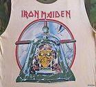 IRON MAIDEN Vintage Concert SHIRT 80s TOUR T RARE ORIGINAL ACES CAMO