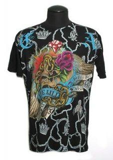 Mens Christian Audigier Ed Hardy LIFE KILLS club T Shirt XL XXL
