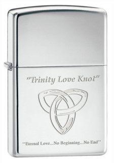 Trinity Love Knot ZIPPO LIGHTER ladies FREE ENGRAVING