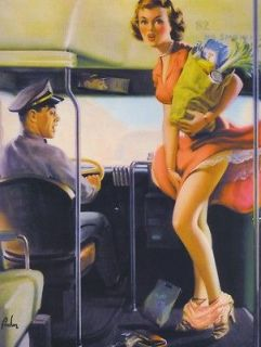 Art Frahm, 266 ~A FARE LOSER~ Bus Driver, Groceries Bag