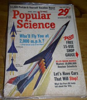 POPULAR SCIENCE MAGAZINE   April 1964   $1,000 Prefab it Yourself