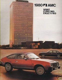 1980 AMC AMX CONCORD EAGLE SPIRIT SALES BROCHURE BOOK
