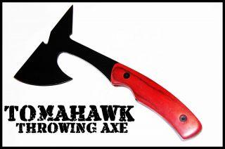 TOMAHAWK THROWING AXE w/ SHEATH BATTLE TACTICAL HATCHET Knife WOOD