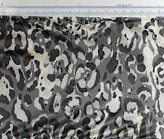 Black and gray leopard animal print designer silk charmeuse fabric by