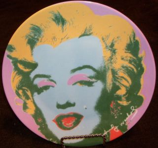 ANDY WARHOL x Block China Marilyn (purple) Plate 1997 from Some