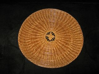 OLD NATIVE AMERICAN PINE NEEDLE INDIAN BASKET TRAY COUSHATTA SEMINOLE