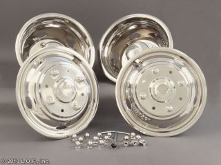 FORD 19.5X6.75 Stainless Dually Wheel Simulators 8 Lug M14xP2 Thread