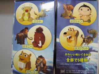 Ice Age mini plush set of 5 from Japan Scrat Sid the Sloth Manny