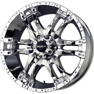 18 inch Ballistic Wizard chrome wheels rims 5x150 +30