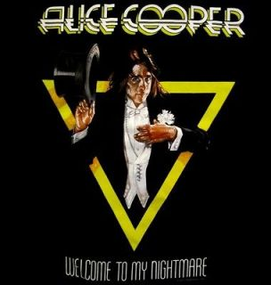ALICE COOPER cd cv WELCOME TO MY NIGHTMARE Official SHIRT LRG new