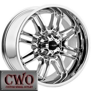 17 Chrome Akuza Ricco Wheels Rims 5x114.3 5 Lug Jeep Wrangler Ranger