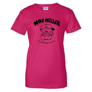 New Mac Miller Ladies T Shirt rap hip hop most dope thumbs up tee S