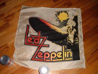 1970s Led Zeppelin nylon banner Concert 1st album cover Robert Plant