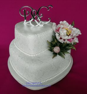 Brand New acrylic Monogram letters wedding cake toppers