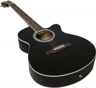 FENDER CUTAWAY ACOUSTIC ELECTRIC GUITAR BLACK THIN BODY GREAT X MAS