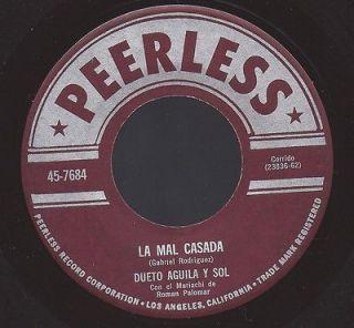 VG++ DUETO AGUILA y SOL LA MAL CASADA/EL PEINE 45 RPM PEERLESS 7684