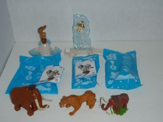 AGE Dinosaurs MIXED LOT 6 MCDONALDS TOY FIGURE 1 MIP BURGER KING TOY