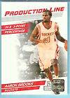 PRODUCTION LINE PRESS PRROF #91 AARON BROOKS /100 ROCKETS I2620