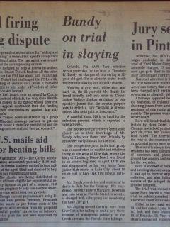 2108125WR SERIAL KILLER TED BUNDY TRIAL KIMBERLY LEACH JANUARY 8 1980