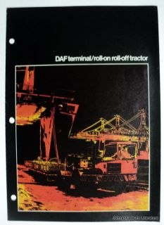 DAF 1976 Terminal Roll  On/Off Tractor Truck Brochure German & English