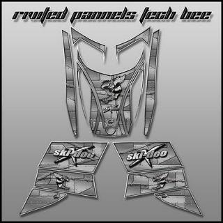 SKI DOO REV, XP, MXZ, Renegade, 600, 800 rotax   03/07 riveted panels
