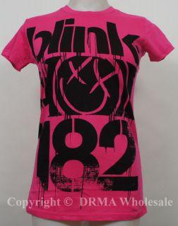 Authentic BLINK 182 3 Bars Logo Girl Juniors Tee T Shirt S M L XL NEW