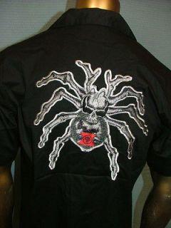 50 DRAGONFLY Embroidered SKULL SPIDER Chopper BIKER MECHANIC WORK