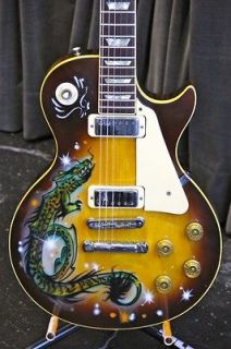 GIBSON LES PAUL DELUXE   TOWNSHEND STYLE w/ AIRBRUSH GRAPHICS (886