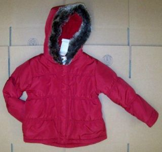 NWT Sz 4T 5T 4 5 Gymboree OUTLET PENGUIN CHALET Red Winter Coat Fur