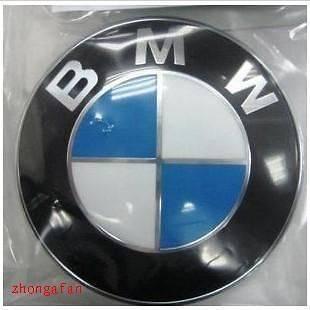 NEW BMW Car Emblem Chrome Logo HOOD Badge Roundel raised 82MM with 5MM