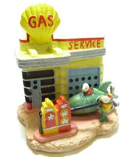 9013 Gas Service Station Fishville Fish Tank Aquarium Ornament