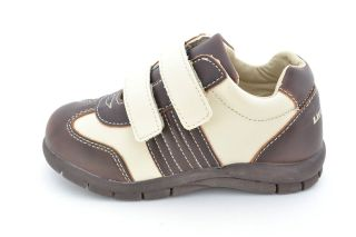New Little Laces Toddler Boys Brown Velcro Dress Shoe