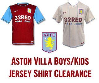 VILLA NIKE Boys Kids Junior Home & Away Jersey Shirt Soccer Football
