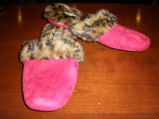 NEW PATRICIA GREEN RED AND ANIMAL PRINT WOMENS SLIPPERS SIZE 9