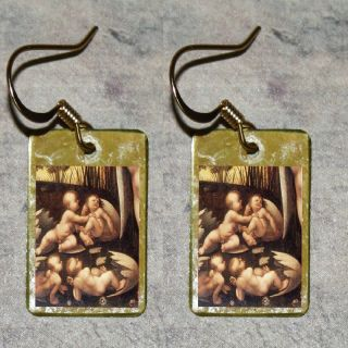 EGG Baby Hatching LEDA and SWAN Leonardo da Vinci Altered Art Charm