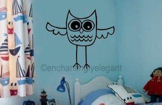 Owl Wall Art Vinyl Decal Wall Sticker Kids Room Teen Room Decor