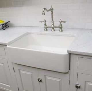 Long Kitchen Sink : FIRECLAY FARMHOUSE SINK 30TOP QUALITY WHITE KITCHEN FARMHOUSE SINK