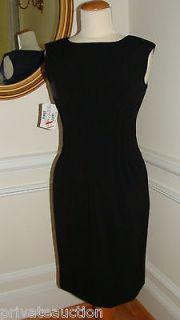 CALVIN KLEIN CLASSIC AUDREY HEPBURN BLACK COCKTAIL DRESS NWT SIZE 2