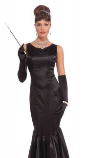 Retro Film Star Audrey Hepburn Halloween Costume Black Dress