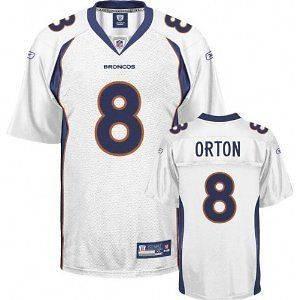 Denver Broncos NFL Football Mens Kyle Orton # 8 Replica Jersey, White