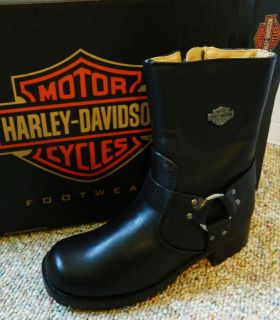 Harley Davidson Ashby Harness Zip D84187 Black womens boots New in
