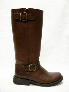 NIB STEVE MADDEN FRENCHH ENGINEER RIDING BOOTS BROWN 6M