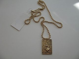 Baby Phat New Gold Pendant Necklace Bead Style Chain NWT Jewelry