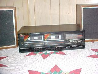 Fisher Standard Stereo Double Cassette Deck Model CRW56