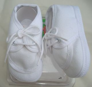 NEW DARLING BABY BOY BAPTISM BOOTIES DRESS SHOE 1 3 MO WHITE COTTON