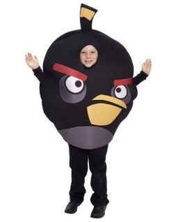 Unisex Childs Angry Birds Black Bird Costume
