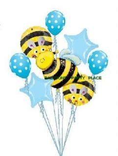 BUMBLE BEE BIRTHDAY PARTY baby shower balloon polka dot