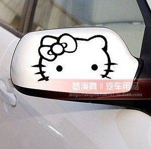 Newly lised new 2x Hello Kiy Car Rear View Mirror Decal Sickers #2